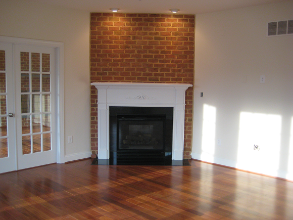 Gas Fireplace With Brick Front