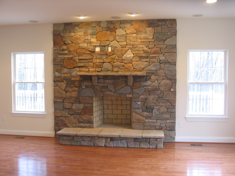 Masonry Fireplace with Stone Front