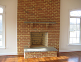 Masonry Fireplace with Brick